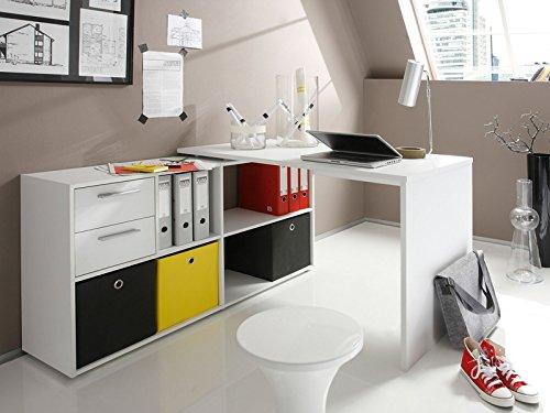schreibtisch ber eck g nstig in wei mit regal und. Black Bedroom Furniture Sets. Home Design Ideas