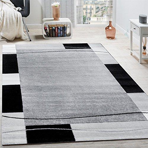 Paco Home Designer Wohnzimmer Teppich Modern Bordüre in Grau Schwarz Creme  Preishammer verschiedene Größen