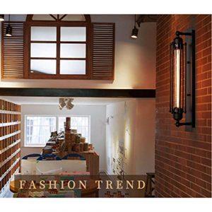 Vintage Wandleuchte, SUN RUN Metal Industrial Wandleuchte im Retro-Stil für  Bar, Küche, Wohnzimmer und Schlafzimmer, E26 Sockel Lampe